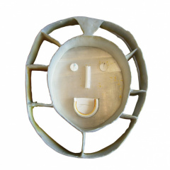 From-the-series-Masks-porcelain-and-stoneware-vh-30–37-cm.-2002