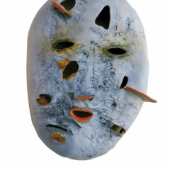 From-the-series-Masks-porcelain-and-stoneware-vh-31-cm-2002