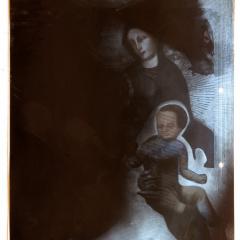 Madona-s-mechem-z-Oregonu-asambláž-31-x-255-cm-2008
