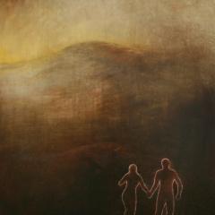 V-krajině-olej-75-x-585-cm-1992