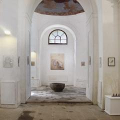 Hledání-úkrytu-olej-150-x-125-cm-2002-Z-výstavy-v-galerii-kaple-sv.-Marka-v-Soběslavi-2008