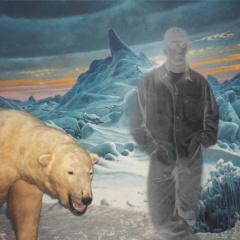 Pepík-s-medvědem-koláž-100-x-68-cm-2004