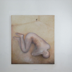Looking-for-Shelter-oil-painting-150-x-125-cm-2002